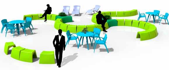 Móveis móveis foram criados pensando na integração e na comodidade das pessoas