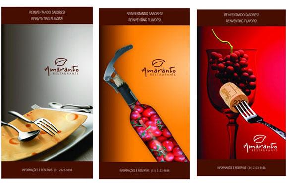 Campanha institucional do Amaranto Restaurante busca conceitos fora das ideias convencionais