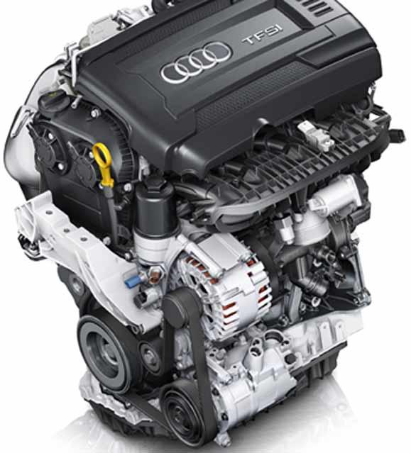O novo motor 1.4 TFSI, traz um bloco de alumínio que reduz seu peso em 21 kg em relação ao antecessor