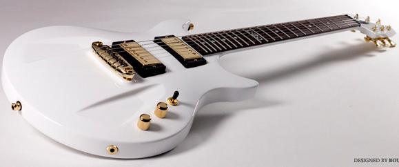 Guitarra Aristides 020 (acima) e os outros modelos da marca são produzidos como uma peça única em Arium
