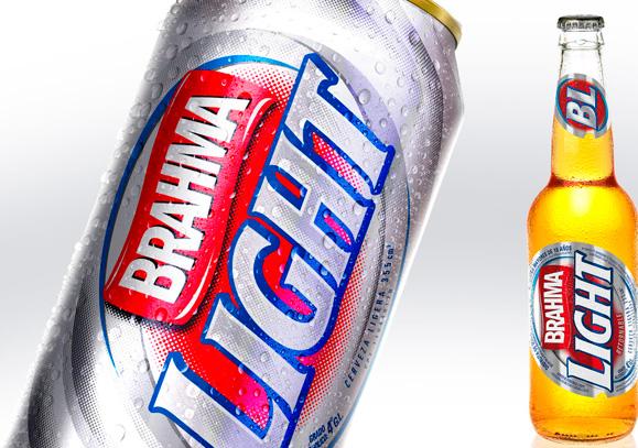 Embalagens de cerveja Brahma Light desenhadas pela Narita para a República Dominicana