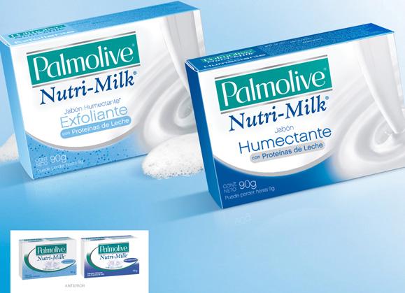 Pande desenhou embalagens do sabonte Palmolive Nutrimilk para a América Latina