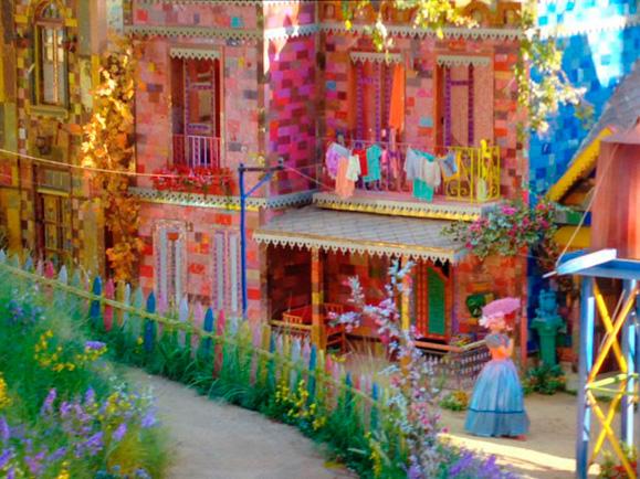 Cada casa tem sua própria cor, sua própria personalidade e seu próprio desenho