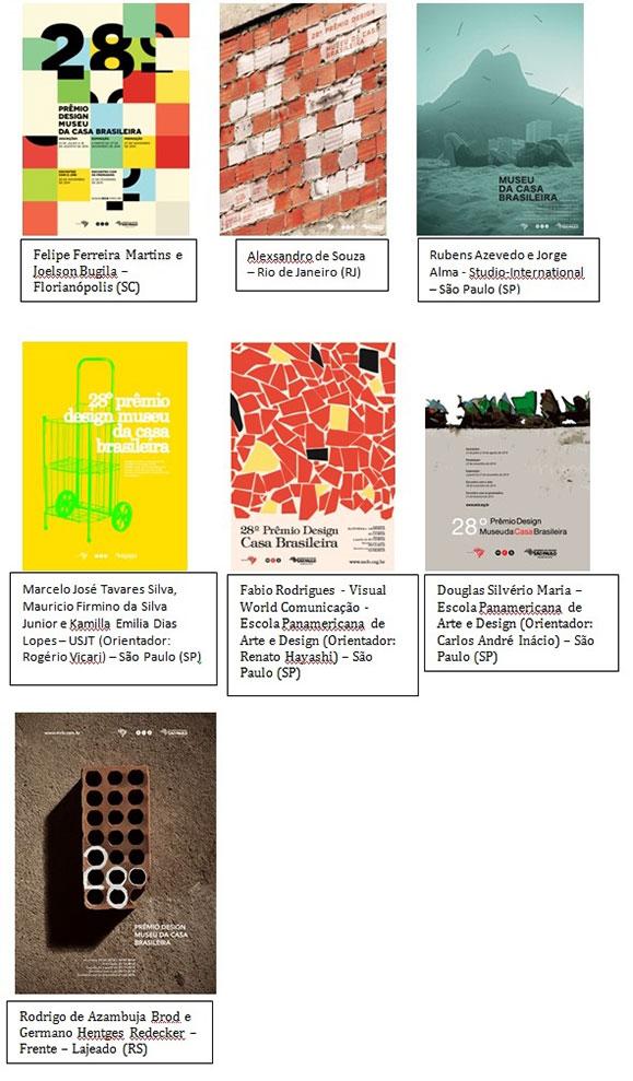 Conheça os sete cartazes finalistas que participação da mostra paralela à exposição do Prêmio Design MCB