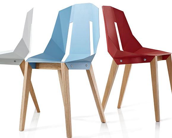Cadeiras apresentadas na mostra de design holandês na feira Craft Design