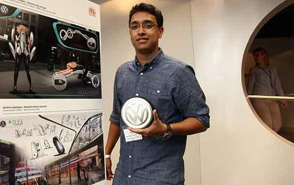 O estudante João Paulo Caetano ficou em 2º lugar com o projeto Hull&Car