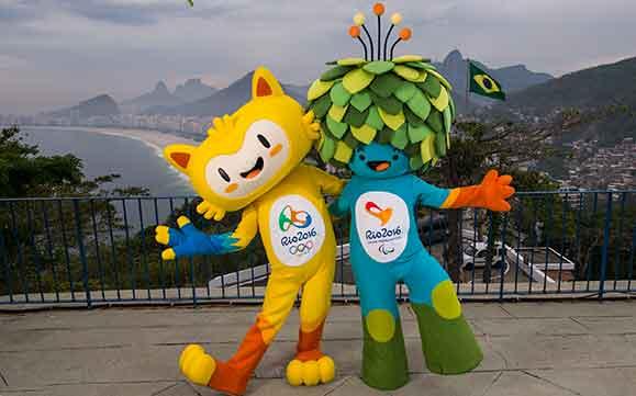 Mscotes Olímpiico  e Paralímpico dos Jogos Olímpicos do Rio de Janeiro em 2016