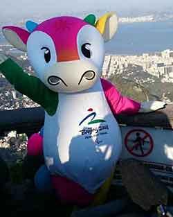 Mascote Paralímpica de Pequim Fu Niu Lele 2008
