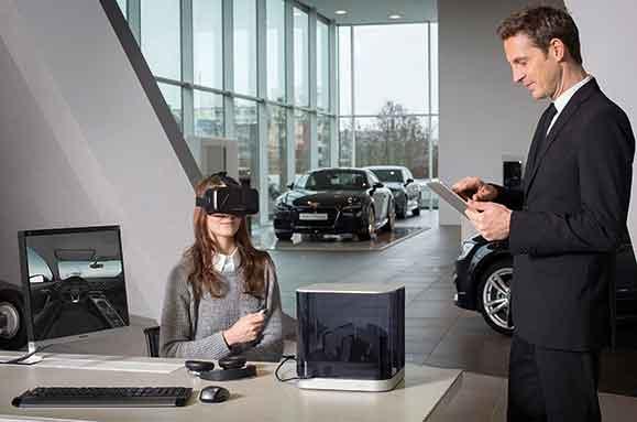 Sistema de realidade virtual desenvolvido pela Audi ajuda clientes a personalizar seu automóvel