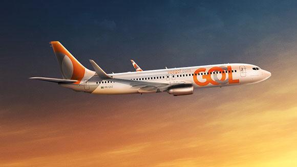 Centésima aeronave GOL com o novo logo  passa para a história da companhia aérea