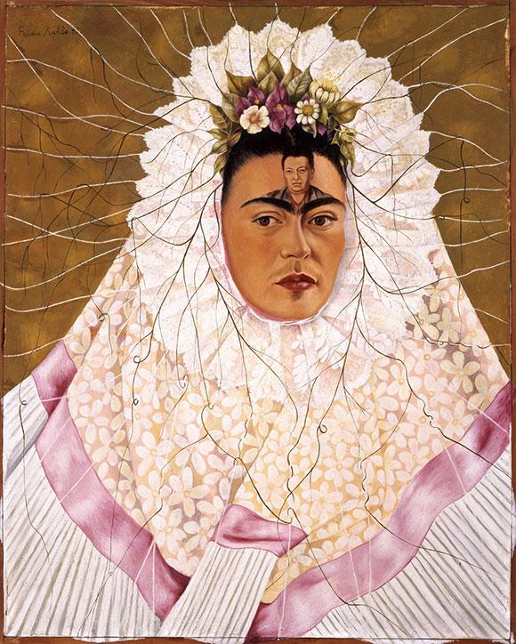 Frida Kahlo, 'Diego en mi pensamiento', 1943. © 2015 Banco de Me?xico/Diego Rivera & Frida Kahlo Museums Trust. / GERARDO SUTER. A imagem não pode ser alterada
