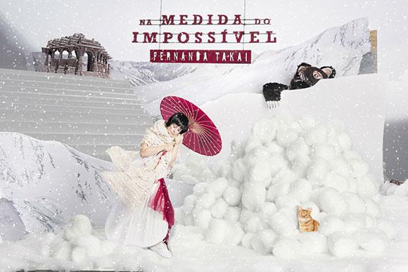 """Capa do o álbum """"Na Medida do Impossível"""" de Fernanda Takai, criado pela Hardy Design"""
