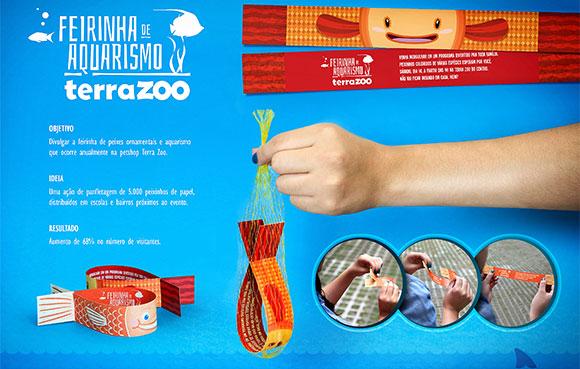 Material promocional para a Feirinha de Aquarismo da Terra Zoo criado pela Quadrante