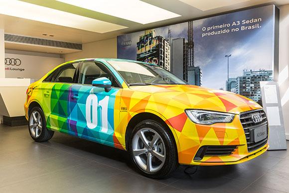 Essa primeira unidade do A3 Sedan poderá ser vista pelo público no Audi Lounge,na Rua Oscar Freire,