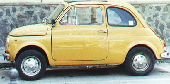 500 (Cinquecento) Citadino, lançado em 1957 se tornou ícone do design italiano e hoje é produzido pela Fiat