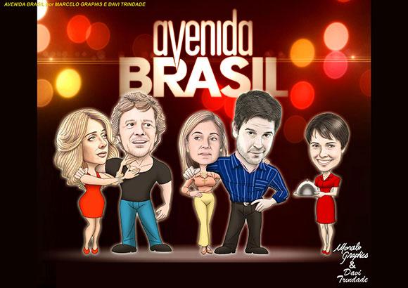 Personagens da novela Avenida Brasil por Marcelo Graphis e Davi Trindade