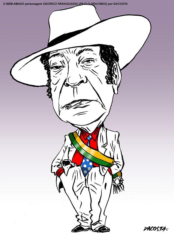 Odorico Paraguaçu (Paulo Gracindo) novela O Bem Amado por Da Costa